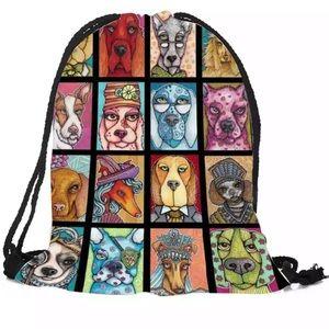 Vintage Variety Dog Tote Bag